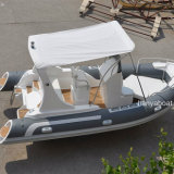 Liya 19ft Luxury Rib Boat Rigid Inflatable Boat with Motor