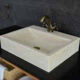 Honed Finish Egyptian Marble Bathroom Sink