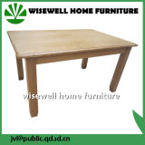 Oak Wood Rectangle Rustic Dining Table