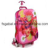 3D Butterfly Kids Travel Trolley Luggage Bag