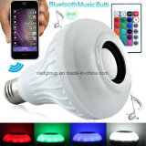 12W RGB E27 Smart LED Bluetooth Speaker Bulb with Wireless Music Player and Remote Controller
