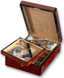 Wooden Dresser Valet Removable Top Tray Watch Box Case
