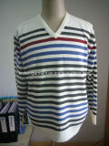Men Knitted Sweater Clothes in V Neck Long Sleeve (204)