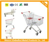 Store Shopping Cart with Zinc and Powder Coated Finish, for Supermarkets, Lock Set Available
