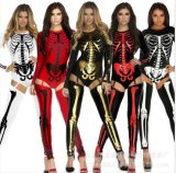 Vampire Bride Female Witch Queen Halloween Cosplay Costume Skeleton Zombie Nightclubs Uniform Ds Performances