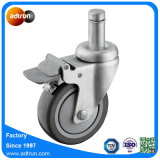 TPU 4inch Wheel Caster Medium Duty Total Brake Caster