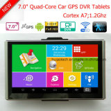 Slim 7.0inch Mobile Car Android Tablet PC with 2.0mega Car Black Box, Full 1080P Car DVR, GPS Navigation,FM Transmitter; Parking Camera,2CH Digital Recorder DVR