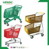2016 Wholesale Foldable Plastic Shopping Trolley for Supermarket