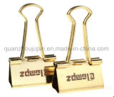 OEM Metal Gold Plating Binder Clip for Stationery Office Supplies