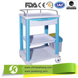 Ce Factory Cheap ABS Emergency Nursing Trolley