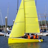 Fiberglass Material Monohull Type Sports Sailboat for Sailboat Training Center