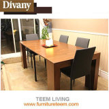 Multifunctional Furniture Modern Design Glass Top Extension Dining Table