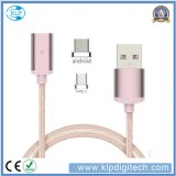 Factory 2 in 1 Nylon Braided Magnetic USB Multi Charger Data Transfer Cable for Android Type-C
