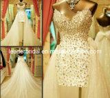 Hi-Low Bridal Gown Crystal Short Beach Wedding Dress H13905