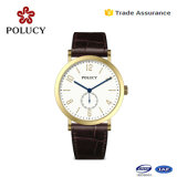 Customize Unisex Quartz Watch Stainless Steel Case Leather Watch