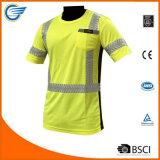 High Visibility Moisture Wicking Short Sleeve Reflective Shirt