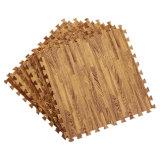 Dark Wood Trim Puzzle EVA Foam Tiles Mats Flooring