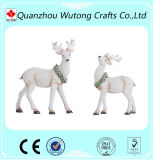 Resin Christmas Ornament Deer Statues Holiday Home Decoration