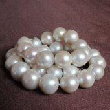 13-15mm Large Size Round Freshwater Pearl Necklace (EN1421)