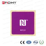NFC Sticker, 35mm X 35mm, Ntag213, 168 Byte, Purple