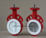 Full Teflon Lined Bray Similar Butterfly Valve with Ce & ISO & Wras (D71X-10/16)