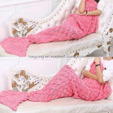100% Acrylic Mermaid Tail Blanket for Home Use and Travel