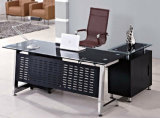 Glass Top Exeuctive Office Desk Home Office Furniture (HX-GL013)