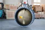 Dn1200 Al Bronze Double Flanged Butterfly Valve with Ce ISO Wras Approved (CBF02-TF01)