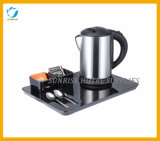 Hotel Stainless Steel Electric Kettle with Welcome Trays