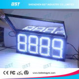 Outdoor Weatherproof White Color LED Gas Price Sign (RF remote)