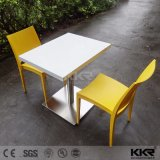 Solid Surface Square Dining Tables with Chairs for Restaurant