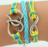 New fashion Bracelet Woven Love Hearts Corazones Number 8 Pulsera PARA Dama Mujer De Ultimos Modelos