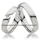Custom Square Stone Ring White Gold Wedding Ring