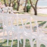 Rch-4001-6 Luxury White Banquet Event Wedding Chair