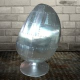 Industrial Style Aluminum Spitfire Egg Chair