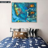 Turquoise Ocean Sea Abstract Canvas Oil Painting