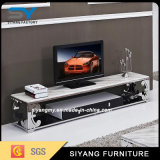 Modern Marble Top Stainless Steel MDF TV Stand