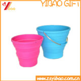 Custom Collapsible Portable Silicone Bucket for Houseware and Outdoors