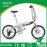 2017 Turkey 20inch Mini Folding Electric Bike with Burhsless Gear Motor 36V 250W