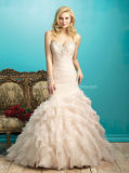 2016 Fashionable Organza Ruffle Mermaid Wedding Bridal Dresses