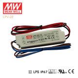 Original Meanwell Lpv-20 Series Single Output Waterproof IP67 LED Driver