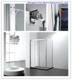 3 Panel Sliding Door Tempered Glass Simple Shower Enclosure Shower Cubicle