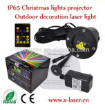 Mini Red and Green Christmas Pattern Laser, Outdoor Christmas Decoration Light, Waterproof Garden Laser Light