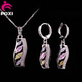 Wuzhou Foxi Best Price Gold Plated CZ Fashion Jewelry Sets for Gift