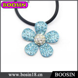 Blue Crystal Flower Necklace/Flower Pendant Necklace #17344