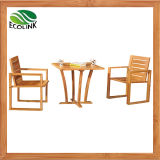 3PCS Bamboo Chair Tea Table Set