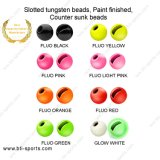 Slotted Tungsten Beads Counter Sunk Beads Fly Tying Beads-Painted Color 08A-014