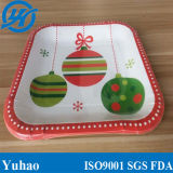 """9"""" Disposable Christmas Party Custom Paper Plate"""