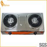 Jp-Gc206 Stainless Steel Panel 2 Burner Gas Cooker
