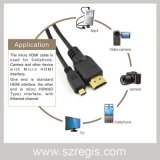 Gold-Plated Coaxial Male to Male Micro HDMI to HDMI Cable